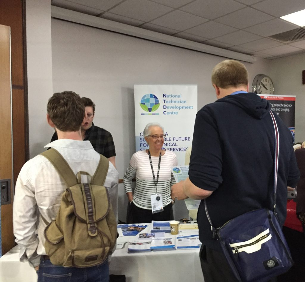 photo of the NTDC and IST stand at Sci Lab show event
