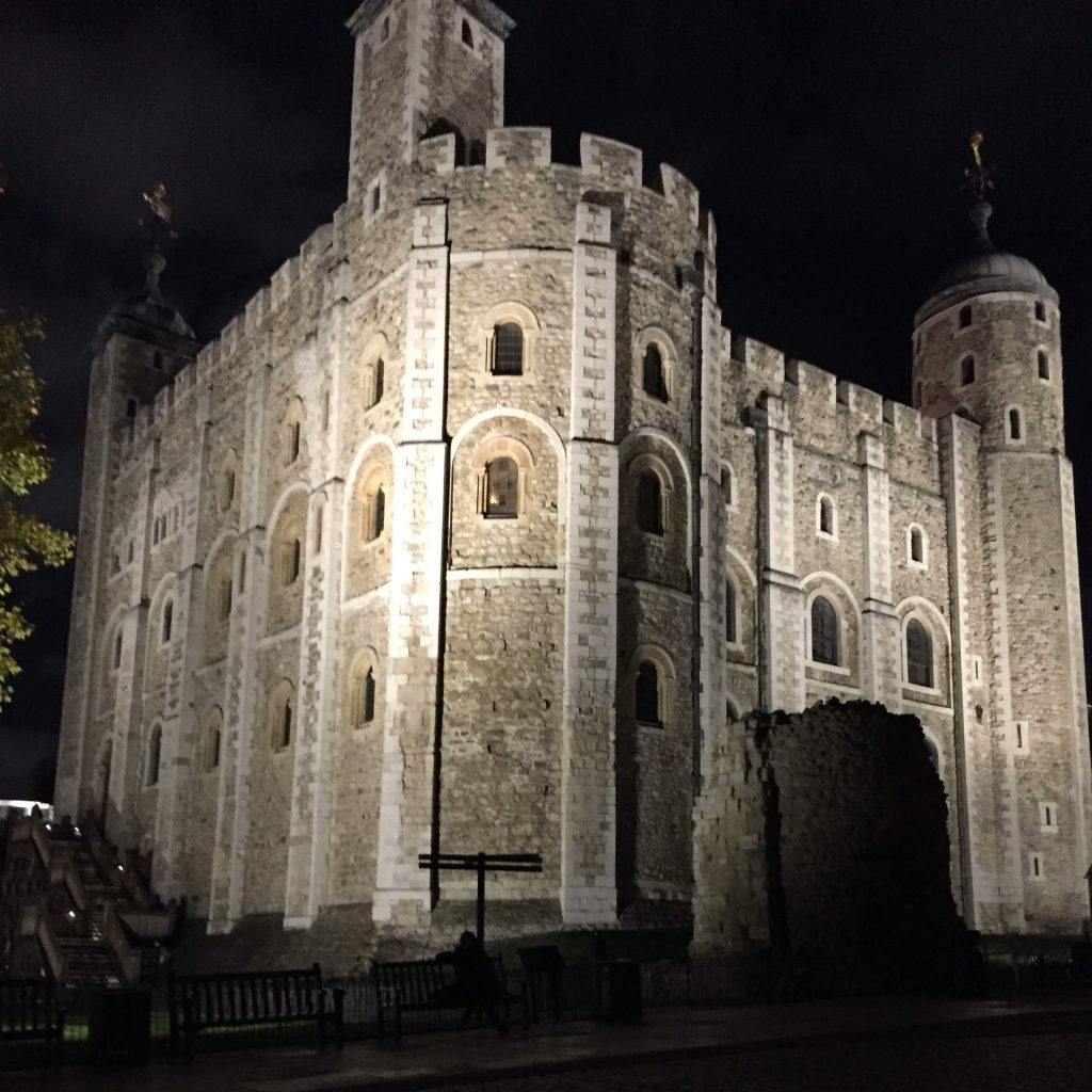 The Tower of London at night