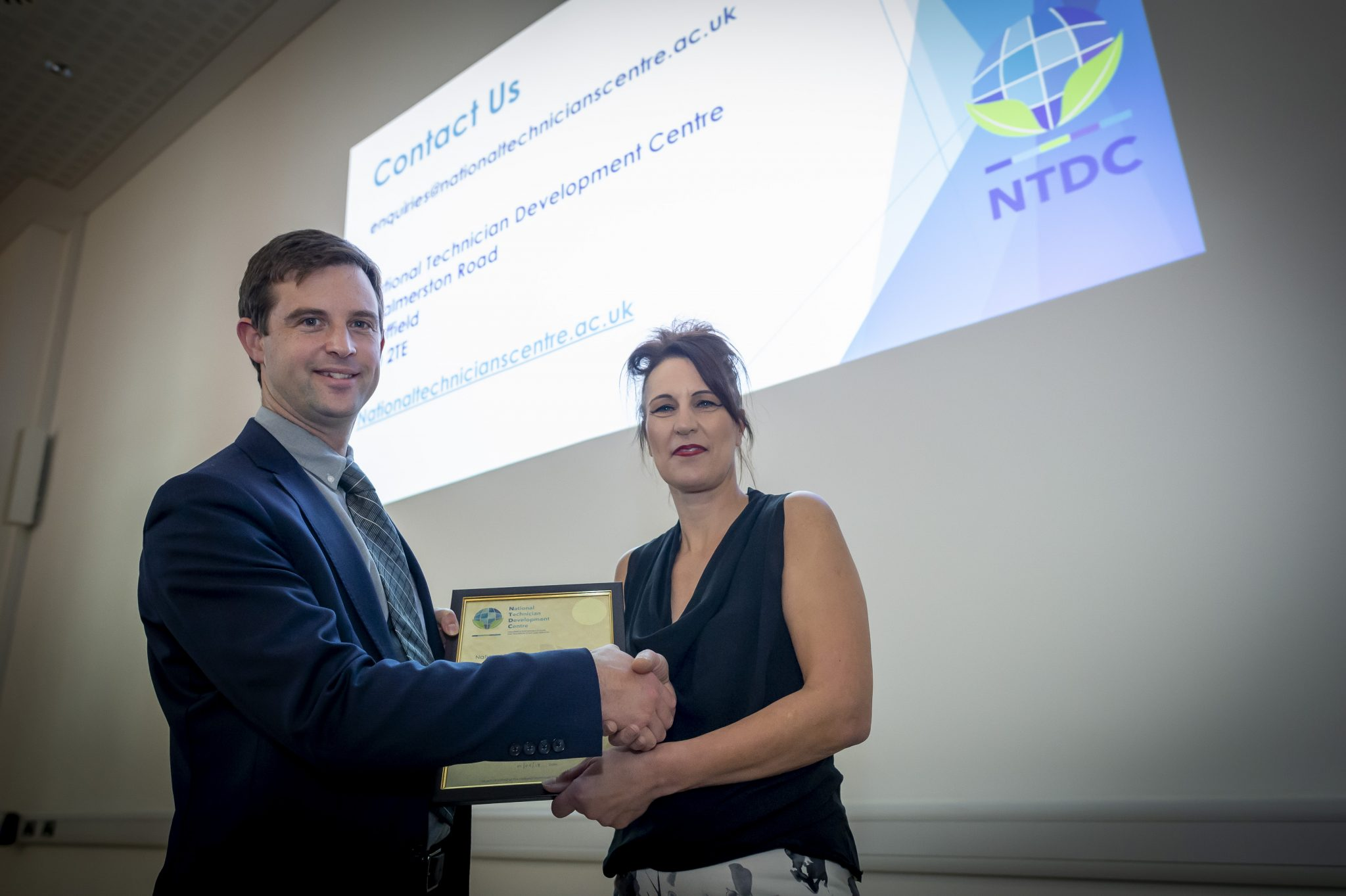 DMU presented with NTDC partner certificate