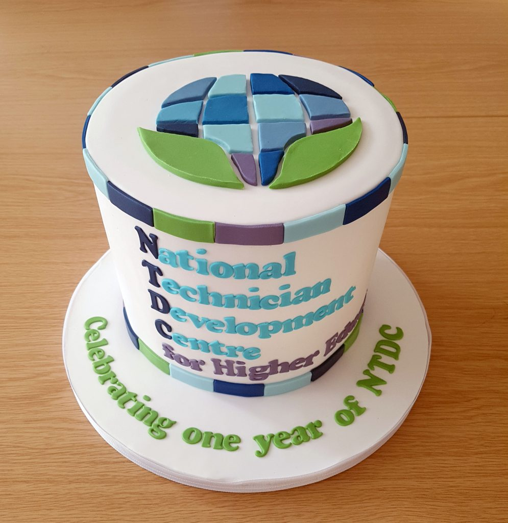 NTDC Celebrating one year cake