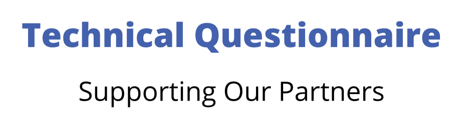 Technical Questionnaire Banner
